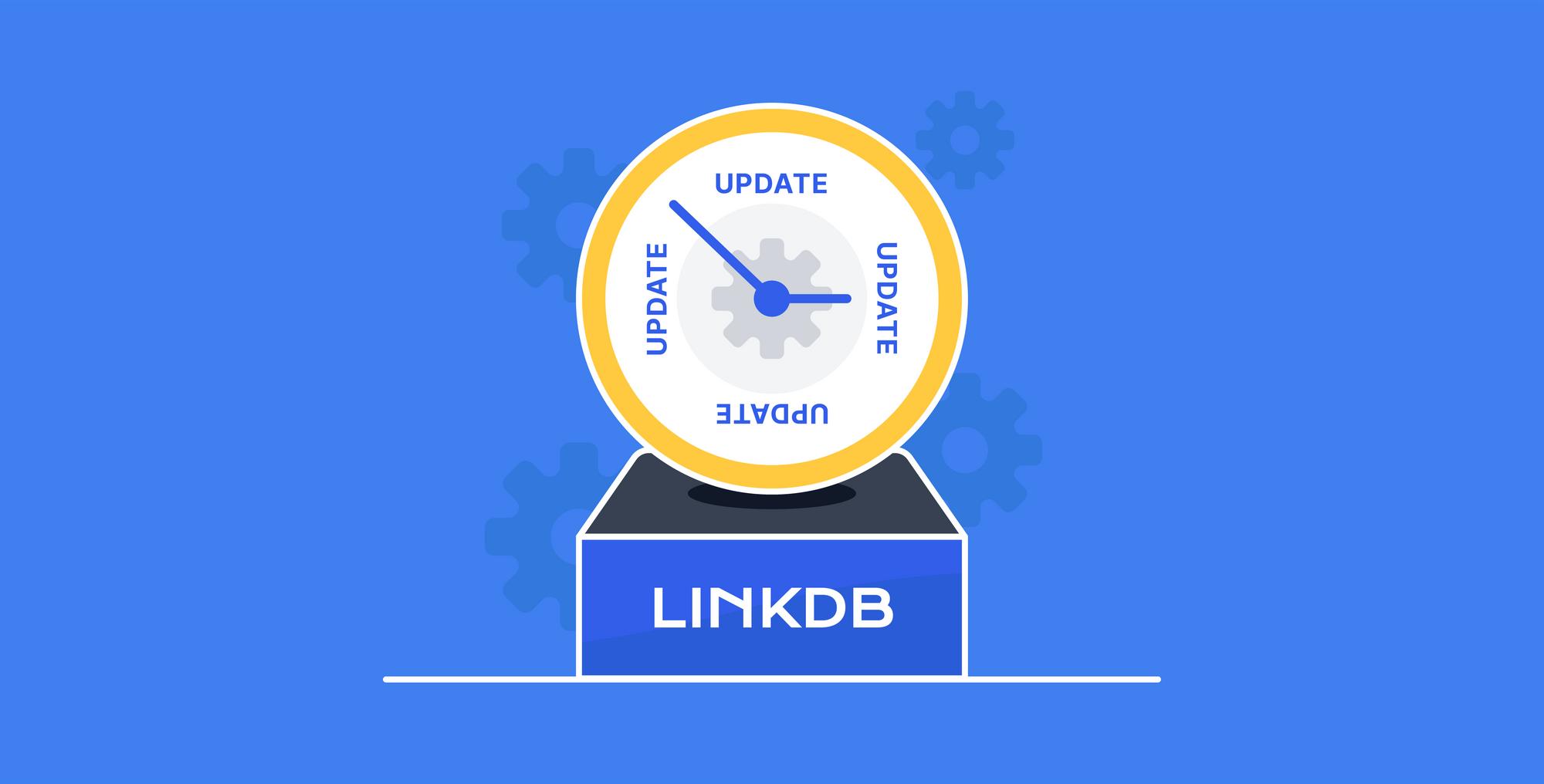 How often is LinkDB updated?