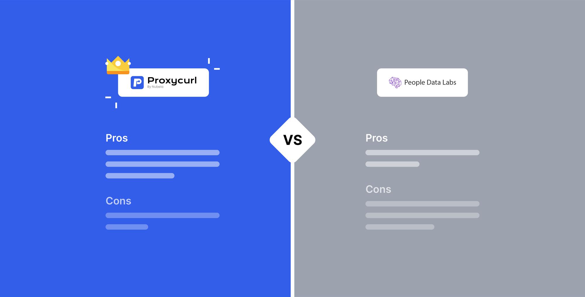Proxycurl Vs. People Data Labs