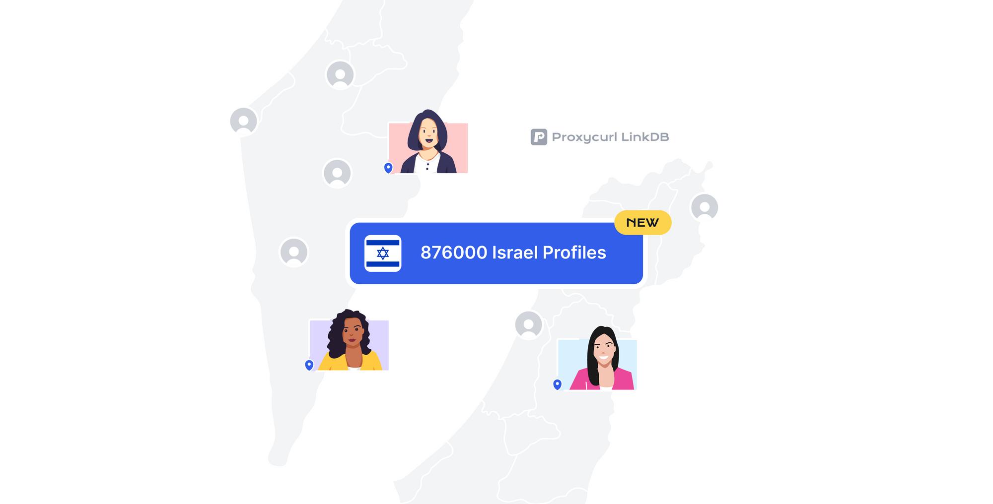 870k Israeli profiles added to LinkDB